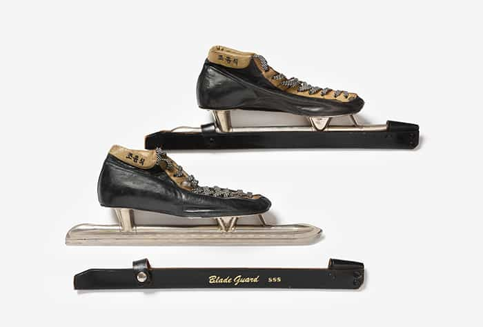 Skater Jo Yun-Sik wore these ice skates when he took part in the Cortina d'Ampezzo Winter Olympics in Italy in 1956.