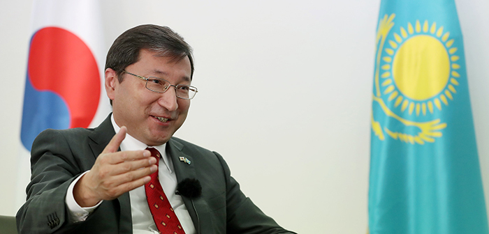 Kazak Ambassador to Korea Bakyt Dyussenbayev on April 5 says the forthcoming visit of President Moon Jae-in to Kazakhstan can help deepen the bilateral relationship between Seoul and Nursultan.