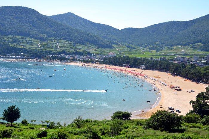 The Sangju Silver Sand Beach in Namhae-gun County