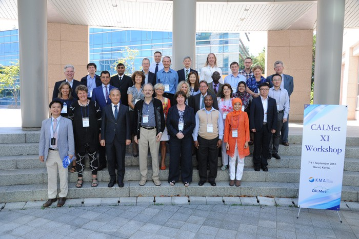 Participants in the 11th CALMet workshop pose for a photo.