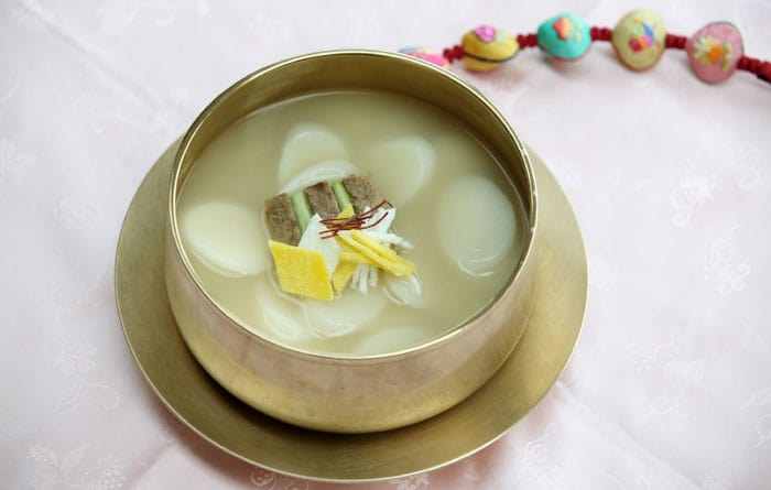 <i>Tteokguk</i> is one of the most symbolic dishes for Seollal. The soup represents the revival of all of Earth's creatures, new beginnings and becoming new and fresh.