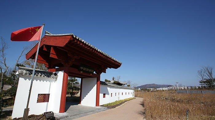 순천만국가정원에서는 각 국가별 정원의 유사점과 차이를 알 수 있다. 사진은 중국 국가정원 입구의 모습.