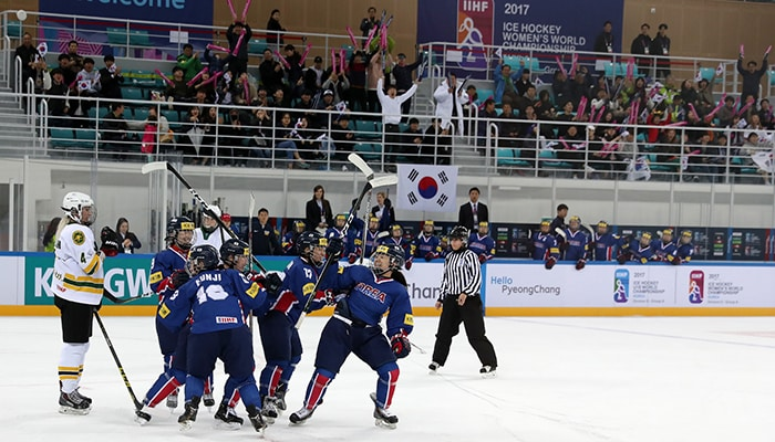 Korean anthem rings out across Gangneung for third time