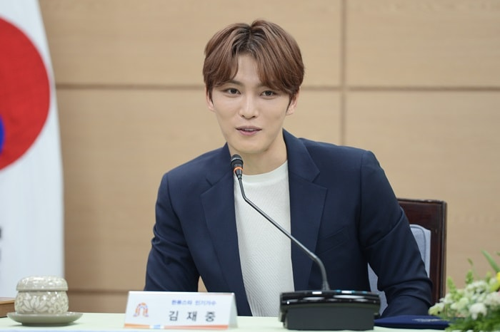 Singer and actor Kim Jae Joong promotes cultural heritage sites in Gongju and the Baekje Cultural Festival, as he was designated as an honorary ambassador on April 19.
