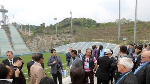 Sport journalists visit PyeongChang Olympic venues