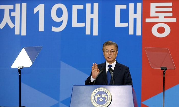 President Moon Jae-in vows to create a 'new Korea'