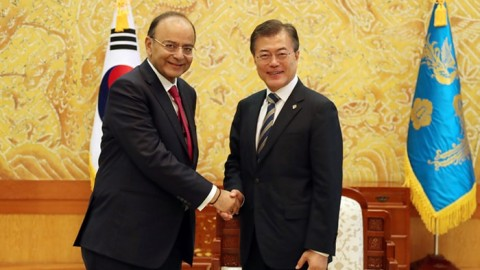 President meets Indian finance minister