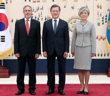 President Moon welcomes five new foreign envoys
