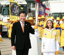 Olympic torch relay launches 100-day countdown to PyeongChang